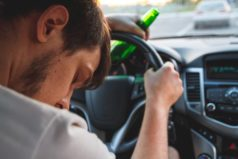 Drunk man behind the wheel on a NJ highway